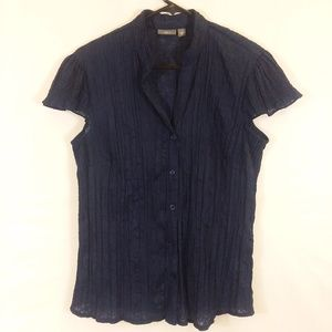 NWOT Apt 9 button front semi sheer top